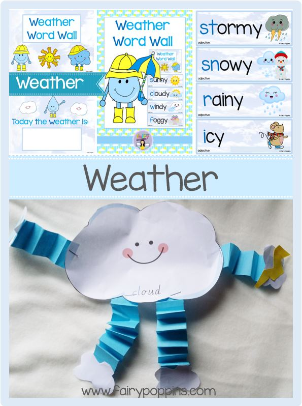 Weather Craftivity - Fairy Poppins