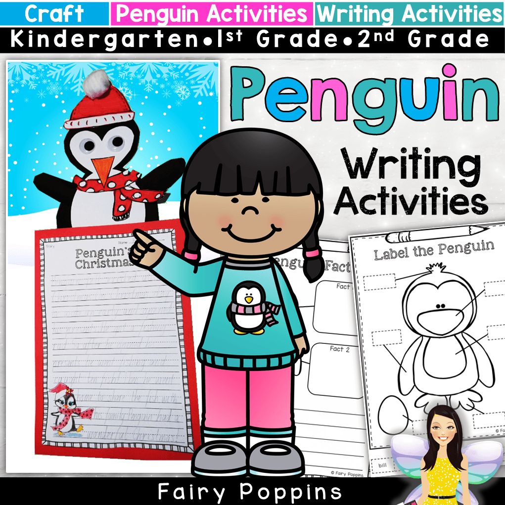 These fun penguin themed writing activities are fun for a Christmas or winter theme. There is a story writing or procedure writing activity. There is also a penguin labeling and fact finding worksheet, which can be used all year round. #penguinactivities #penguinwriting #christmaswriting #fairypoppinsresources #fairypoppins
