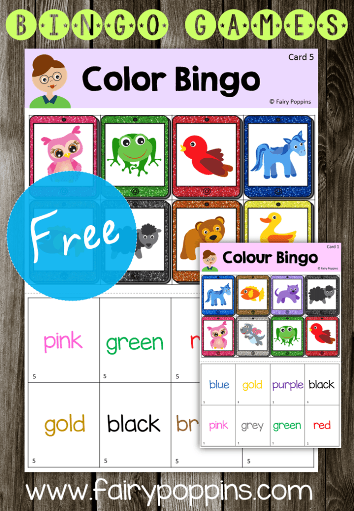 FREE Colour Bingo - Fairy Poppins