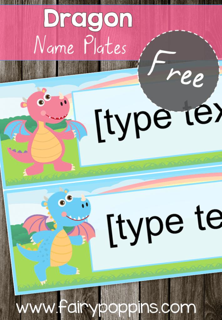 FREE Dragon Name Plates - Fairy Poppins