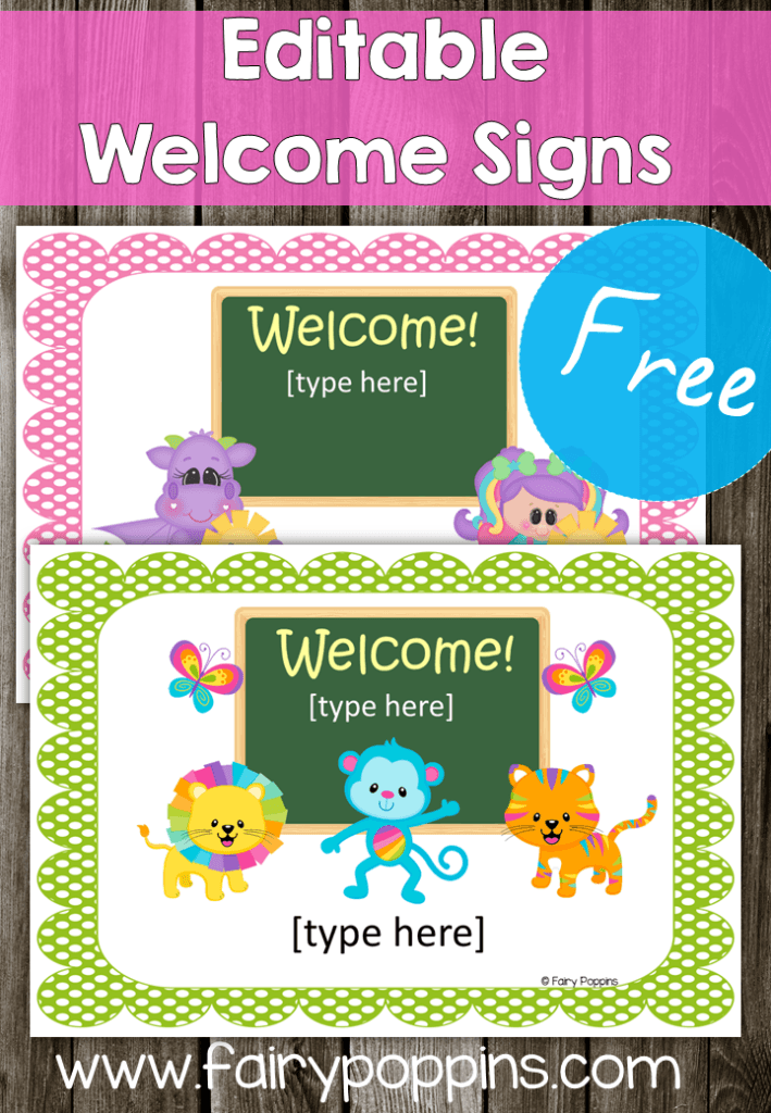 FREE Editable Welcome Signs