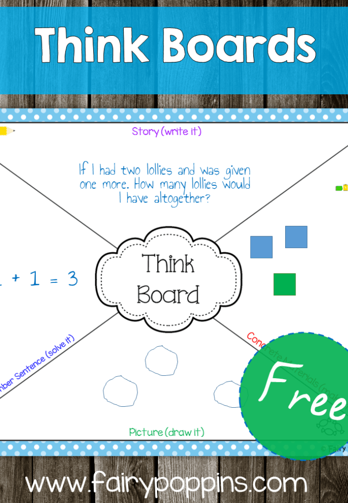 FREE Think Boards - Fairy Poppins