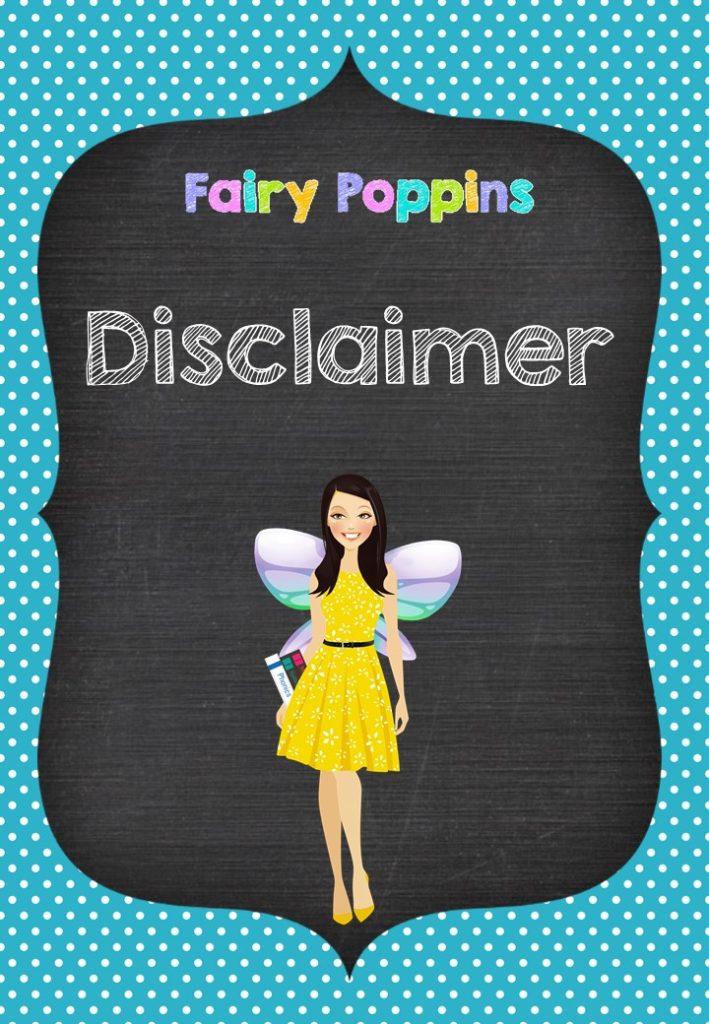 Disclaimer- Fairy Poppins