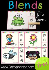 Free Blends Clip Cards - Fairy Poppins