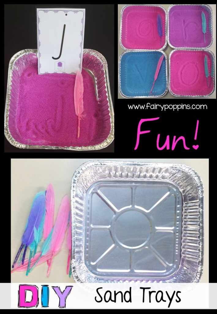 DIY Sand trays and letter cards for handwriting - Fairy Poppins