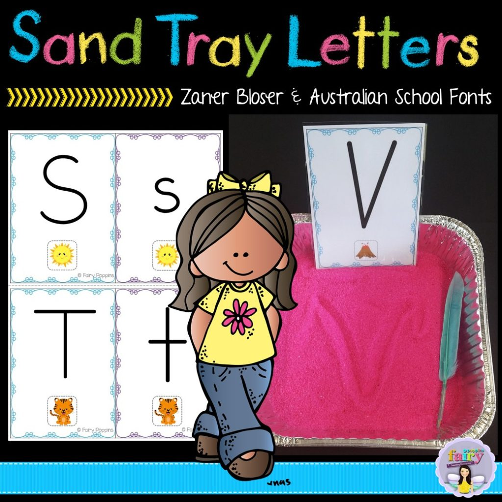 Sand Tray Letters - Fairy Poppins