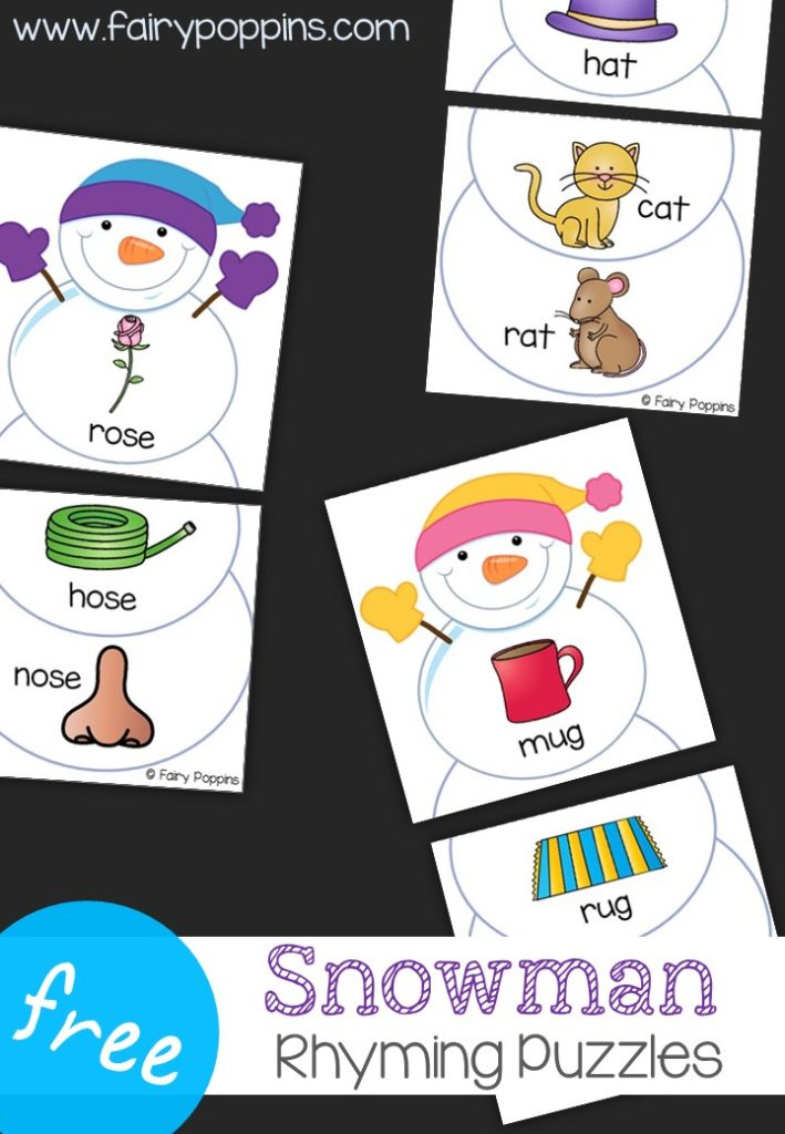 snowman rhyming puzzles fairy poppins. Black Bedroom Furniture Sets. Home Design Ideas