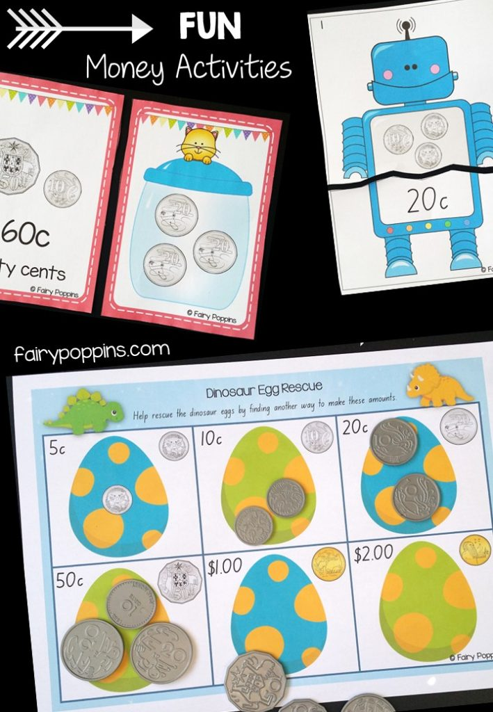 Australian money games and activities (year one, year two and year three) ~ Fairy Poppins