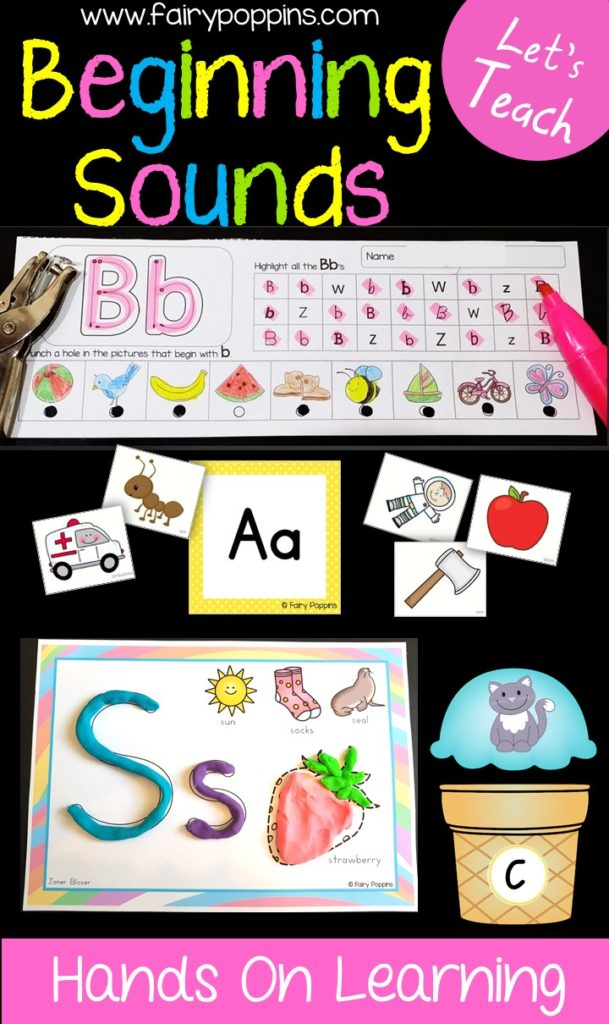Hands-on alphabet and beginning sounds activities ~ Fairy Poppins