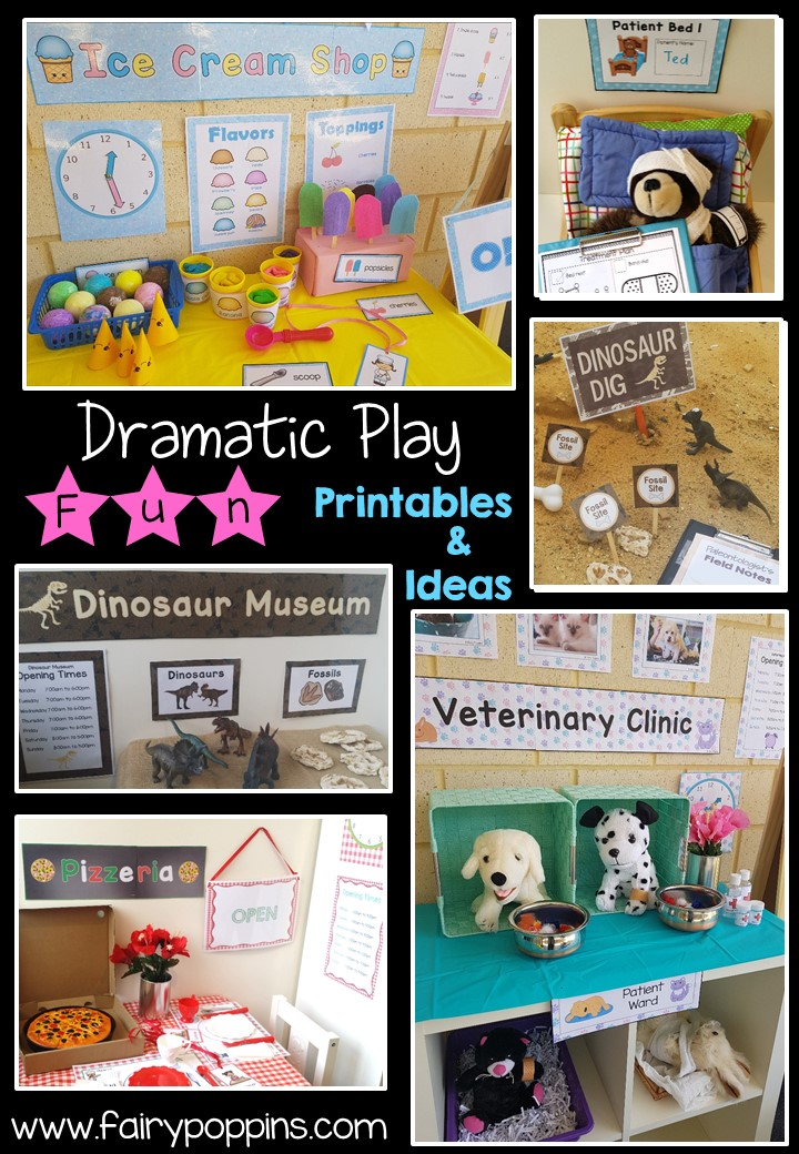 Fun ideas for dramatic play and printables ~ Fairy Poppins