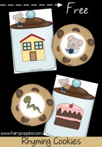 Free rhyming cookies - Fairy Poppins