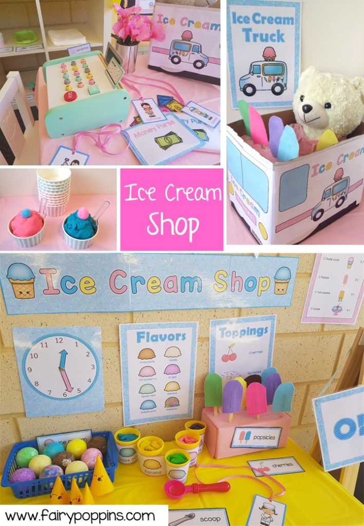 Ice Cream Shop dramatic play printables ~ Fairy Poppins