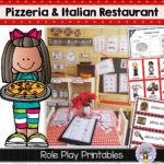 Italian Restaurant and Pizzeria dramatic play printables ~ Fairy Poppins