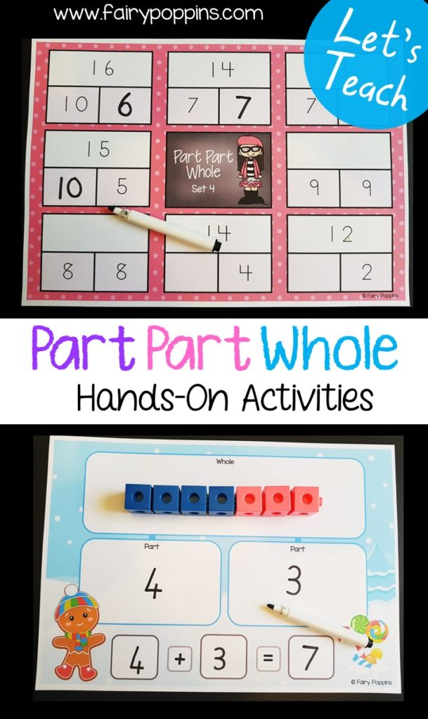 Part part whole worksheets and activities ~ Fairy Poppins
