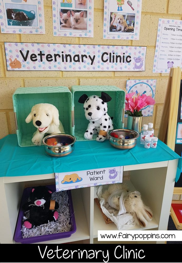 Veterinary Clinic dramatic play printables ~ Fairy Poppins