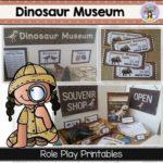 Dinosaur Museum ans Souvenir dramatic play printables ~ Fairy Poppins