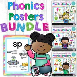 Huge set of phonics posters for blends, digraphs, vowel teams and dipthongs ~ Fairy Poppins