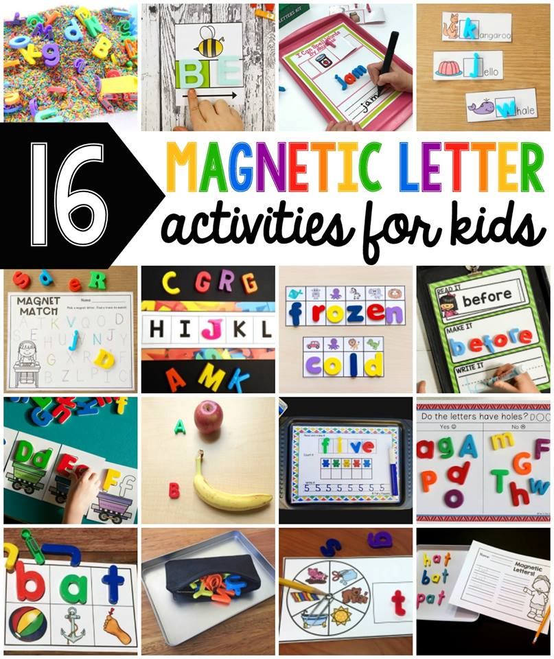 16 Fun Magnetic Letter Activities - Fairy Poppins