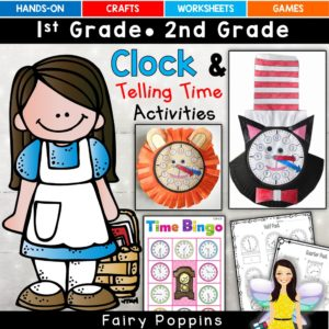 Telling time clock templates, games and worksheets ~ Fairy Poppins