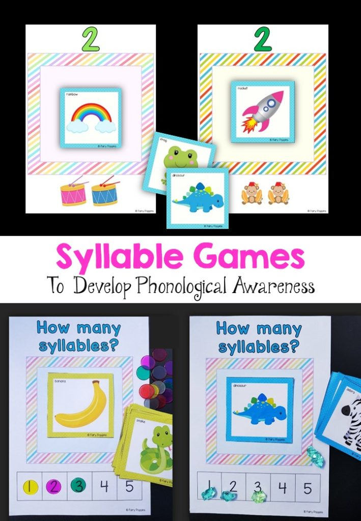 Syllable games for pre-k and kindergarten- Fairy Poppins