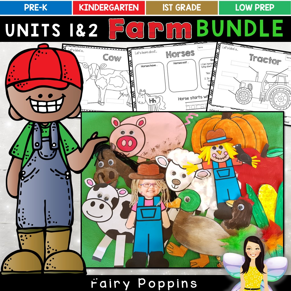 Farm craft templates and activities. Farm animals and fall themes. ~ Fairy Poppins
