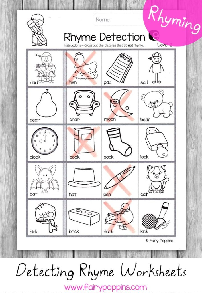 Rhyming Activities Fairy Poppins. Identifying Rhyming Words Worksheets Fairy Poppins. Printable. Rhyming Words Printable At Clickcart.co