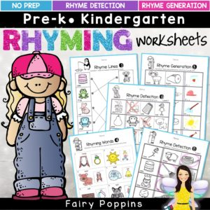 Rhyming worksheets - Fairy Poppins