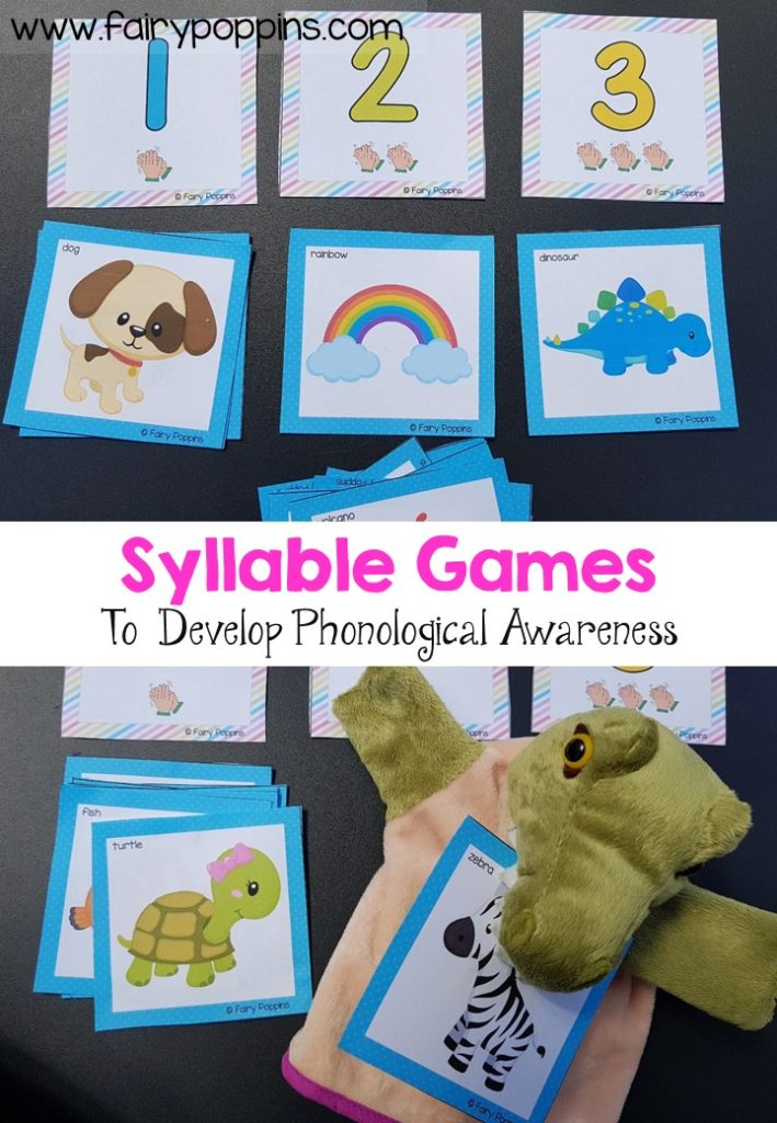Syllable games to develop phonological awareness - Fairy Poppins