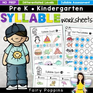 Syllable worksheets - Fairy Poppins