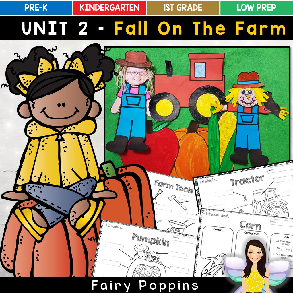 Fall craft templates and farm worksheets - Fairy Poppins