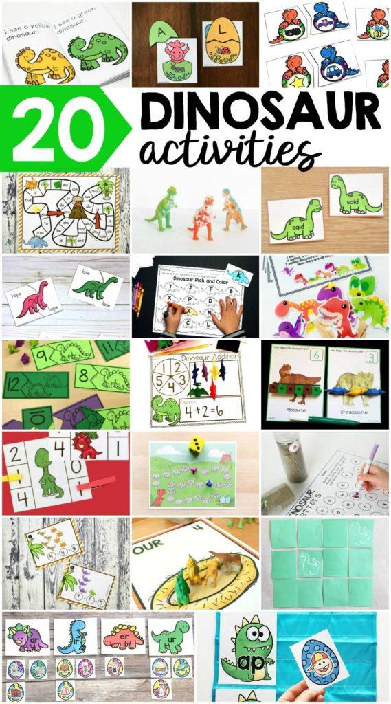 Free dinosaur activities for kids - Fairy Poppins