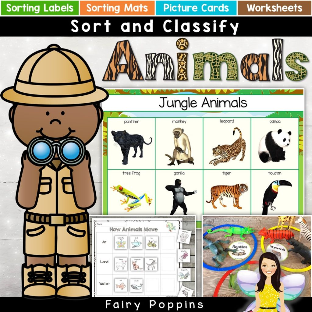 Animal Sort and Classify | Fairy Poppins