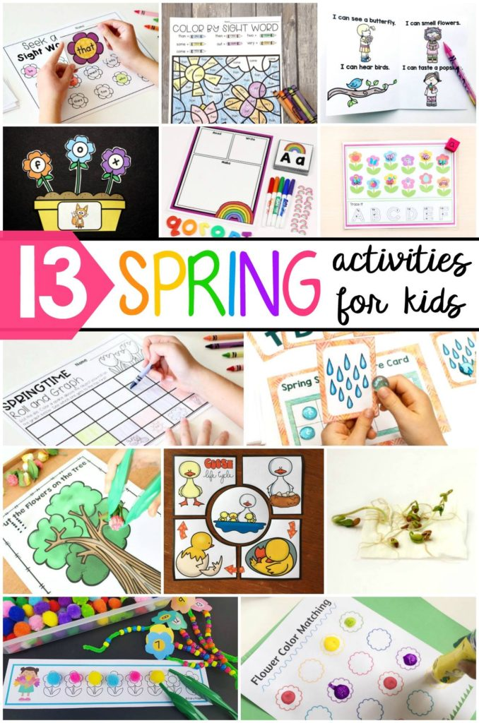 Awesome free spring activities for kids. ~ Fairy Poppins
