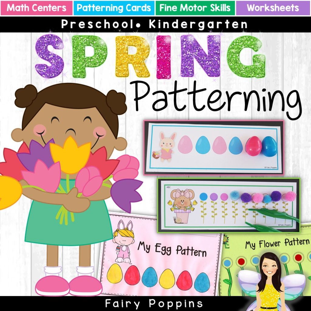 Spring patterning activities, worksheets and cards. ~ Fairy Poppins