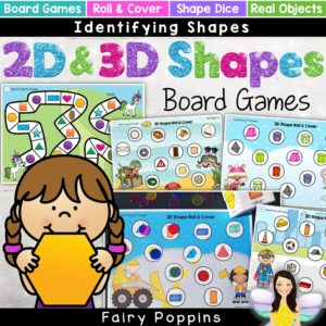 2D and 3D shapes games for kids - Fairy Poppins