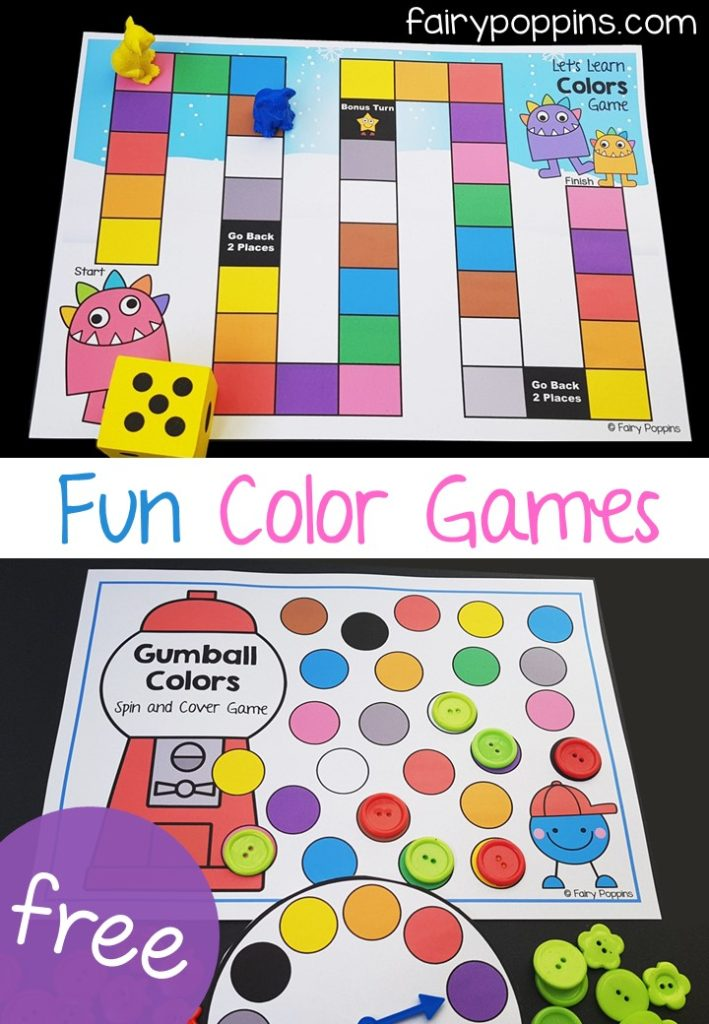 Fun Color Activities For Kids Fairy Poppins