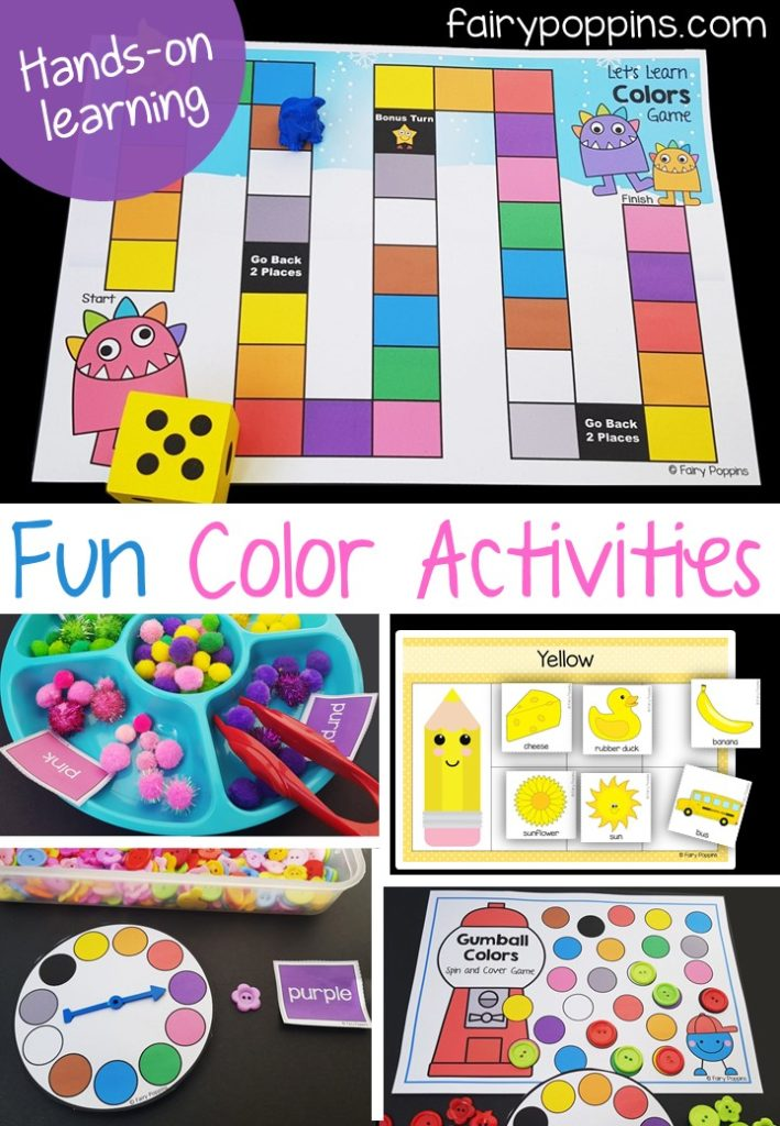fun color colour games and sorting activities for kids fairy poppins - Colour Activities For Children