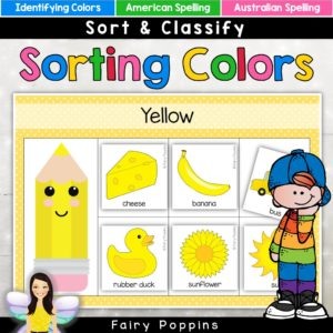 Sorting color (colour) activities for kids - Fairy Poppins