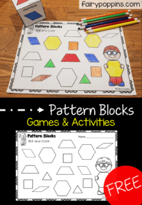 Free pattern block activities to help identify 2D shapes - Fairy Poppins