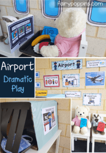 Airport printables for dramatic and pretend play - Fairy Poppins