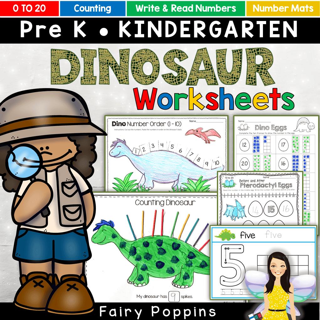 Dinosaur Math Activities 0 20 Fairy Poppins