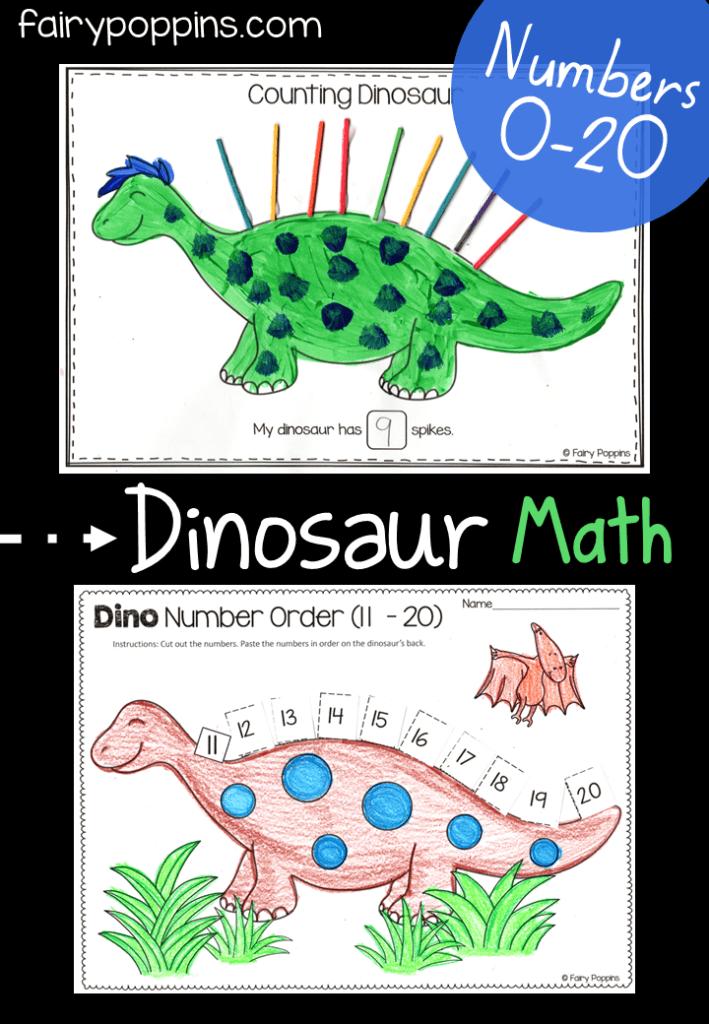 Dinosaur Math Activities (0-20) Fairy Poppins