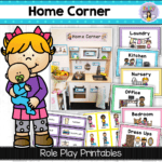 Home corner printables for dramatic and pretend play - Fairy Poppins