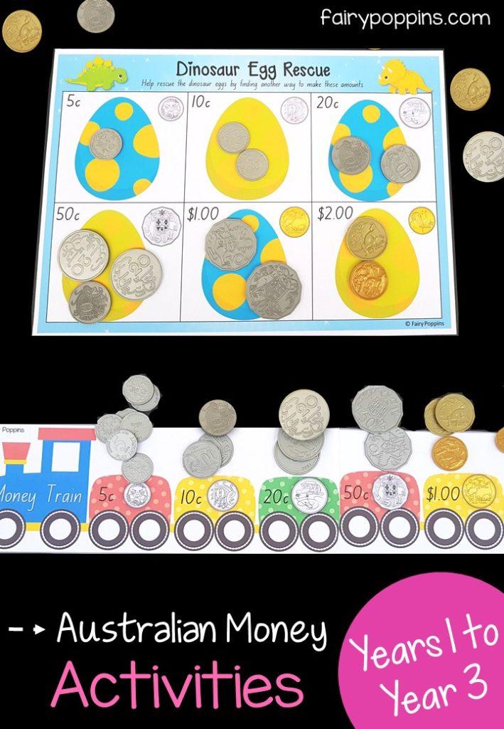Australian Money Activities Fairy Poppins