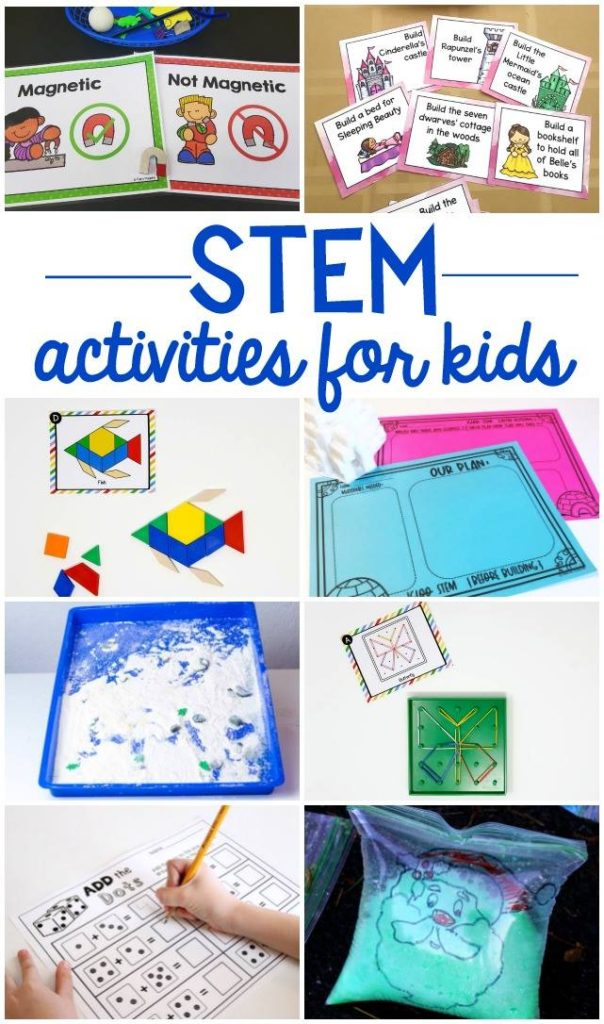 Free STEM activities and printables for kids. Great for preschool, kindergarten and first grade. #stemactivities #freestem #stemprintables #kidsstem #kindergartenstem