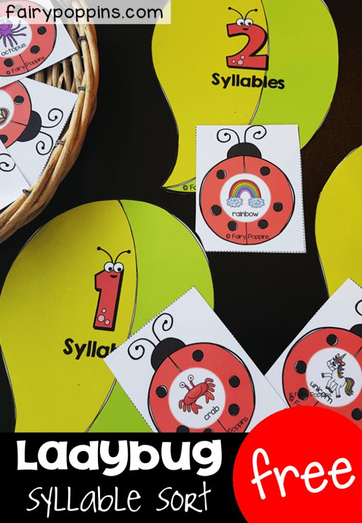 Ladybug Syllable Sort | Fairy Poppins