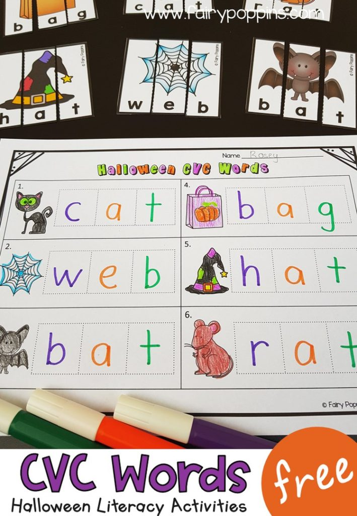 Kindergarten Activities For Halloween Fairy Poppins