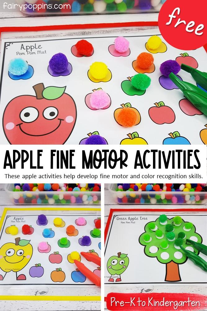 Apple Fine Motor Activities